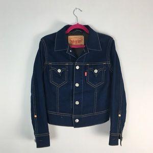 """VTG Levi's """"Iconic"""" Denim Jacket Dark Wash M"""